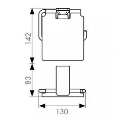 Держатель для туалетной бумаги KAISER Glory KH-1500 схема