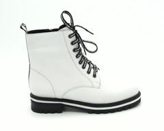 35ц Ботинки зима из нат.кожи белого цвета