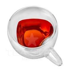 """Чашка """"Сердце"""" с двойными стенками, 150 мл стеклянная"""