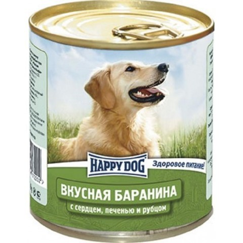 Happy Dog NaturLine для взрослых собак. Вкусная баранина с печенью, сердцем, рубцом  750г 1 шт