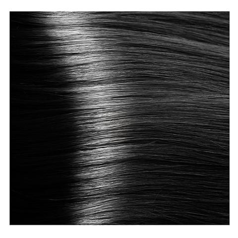 Крем краска для волос с гиалуроновой кислотой Kapous, 100 мл - HY 1.0 Черный