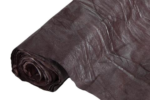 Бумага жатая эколюкс 70см х 5м тёмно-шоколадная/серебро 19S