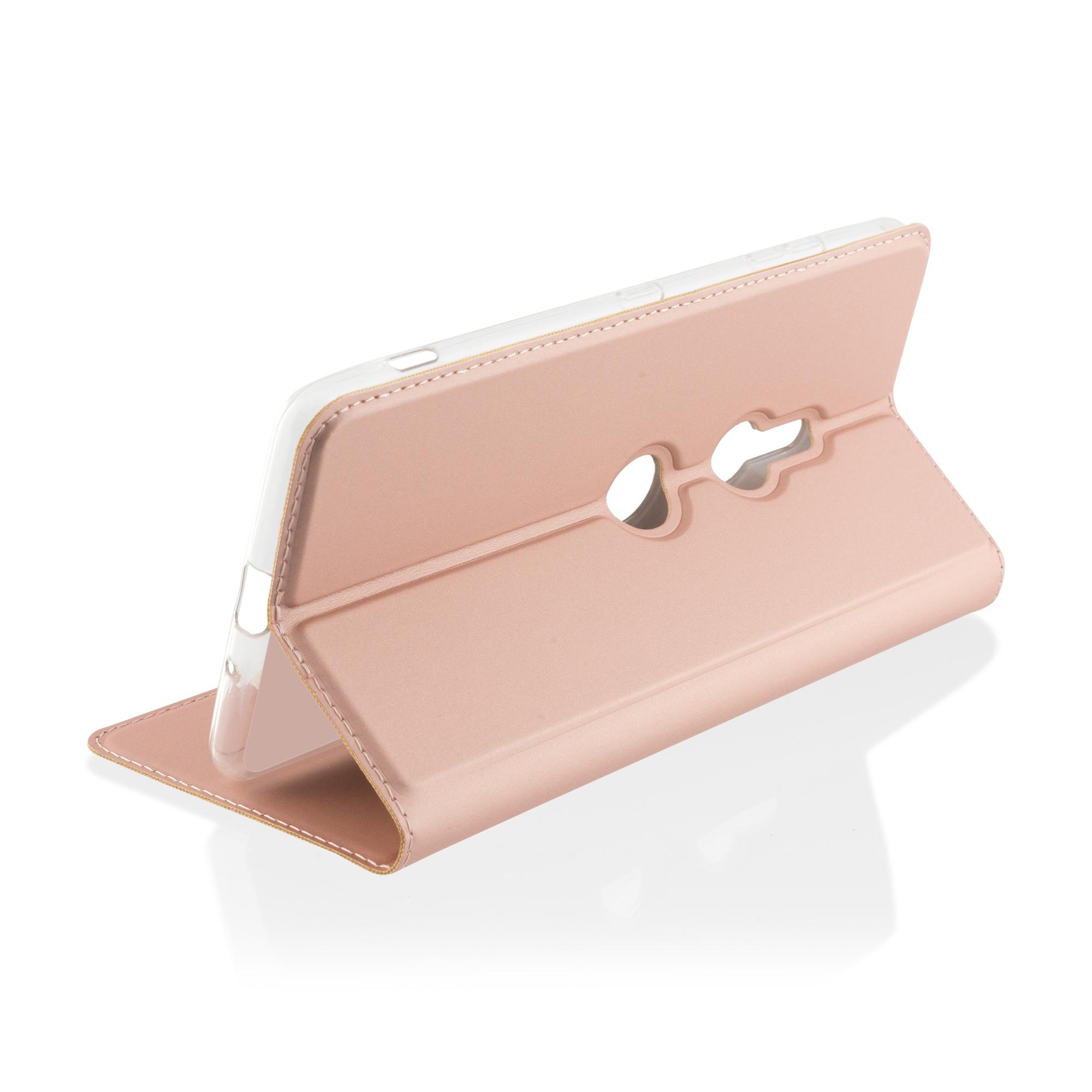 Brosco Xperia XZ3 / Чехол-книжка, розовая