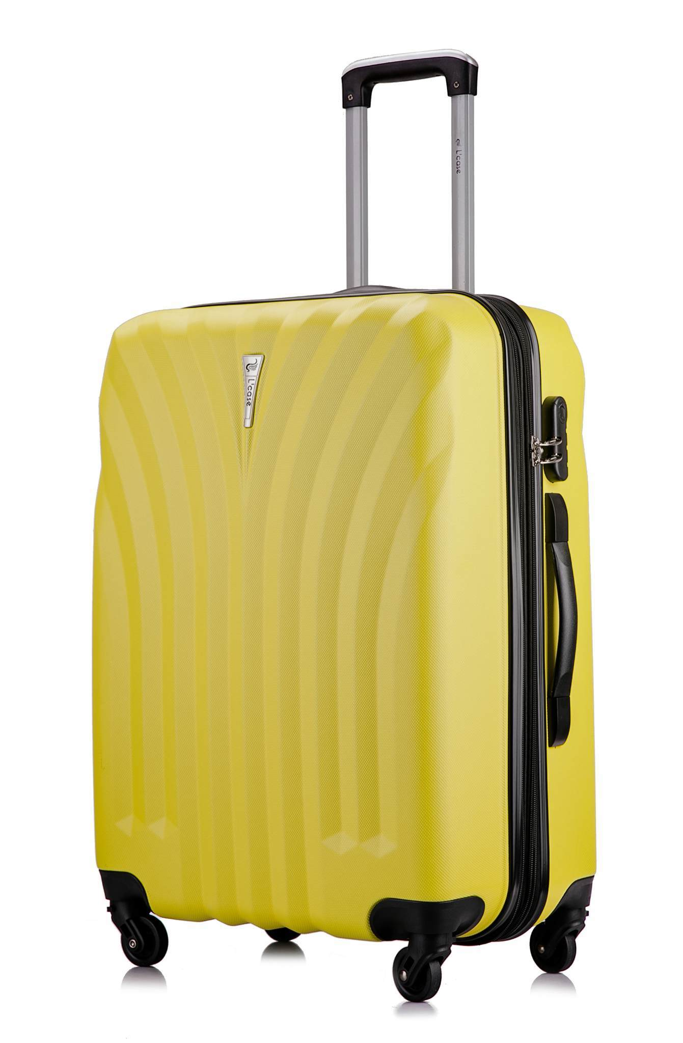 Чемодан с расширением L'case Phuket-24 Желтый (M+)
