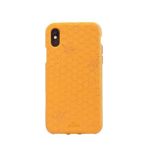 Чехол для телефона PELA IPhone XS Bee Honey (горчичный с пчелами)