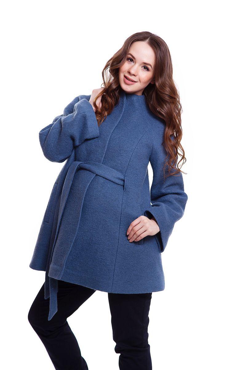 Пальто для беременных 05218 синий