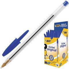 Ручка шариковая одноразовая BIC Cristal синяя (толщина линии 0.4 мм)