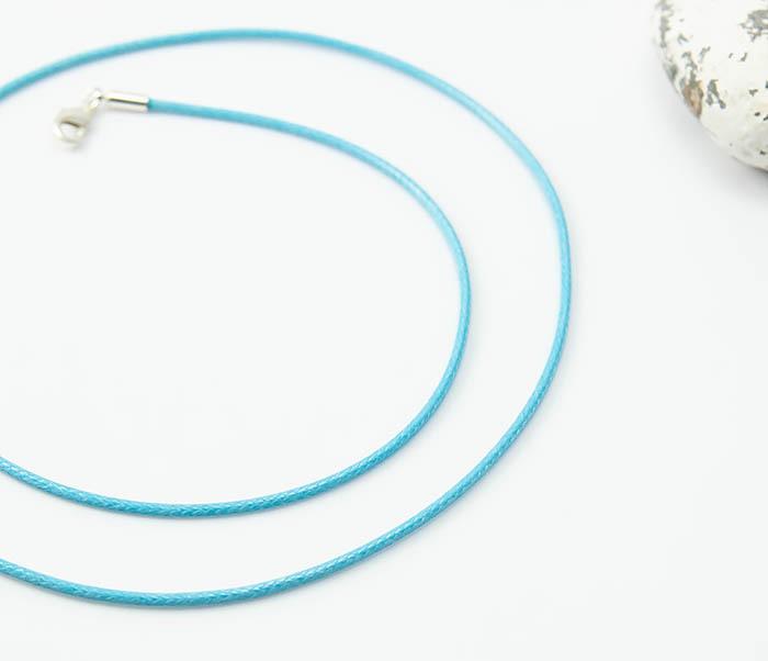 PL277-7 Голубой шнур на шею из текстиля фото 03