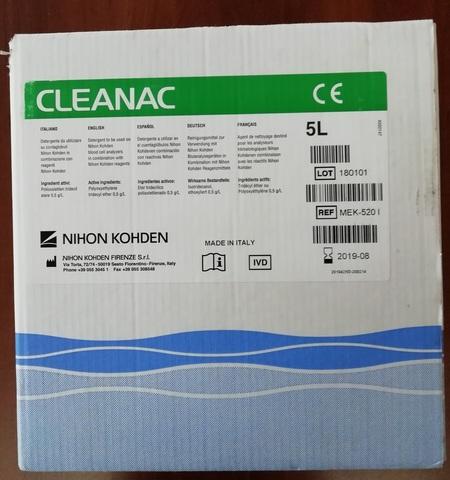 МЕК-5201/МЕК-520I Очищающий реагент Клианак (Cleanac), 5л - Nihon Kohden Firenze S.r.l., Италия (арт.МЕК-520I)