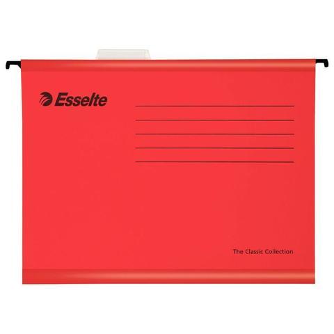 Подвесная папка Esselte Standart А4 до 250 листов красная (25 штук в упаковке)