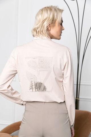 Фото блузка с принтом на спинке - Блуза Г723а-075 (1)