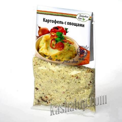 Картофельное пюре  с овощами 'Здоровая еда', 60г