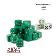 Wargaming Dice: Green with White