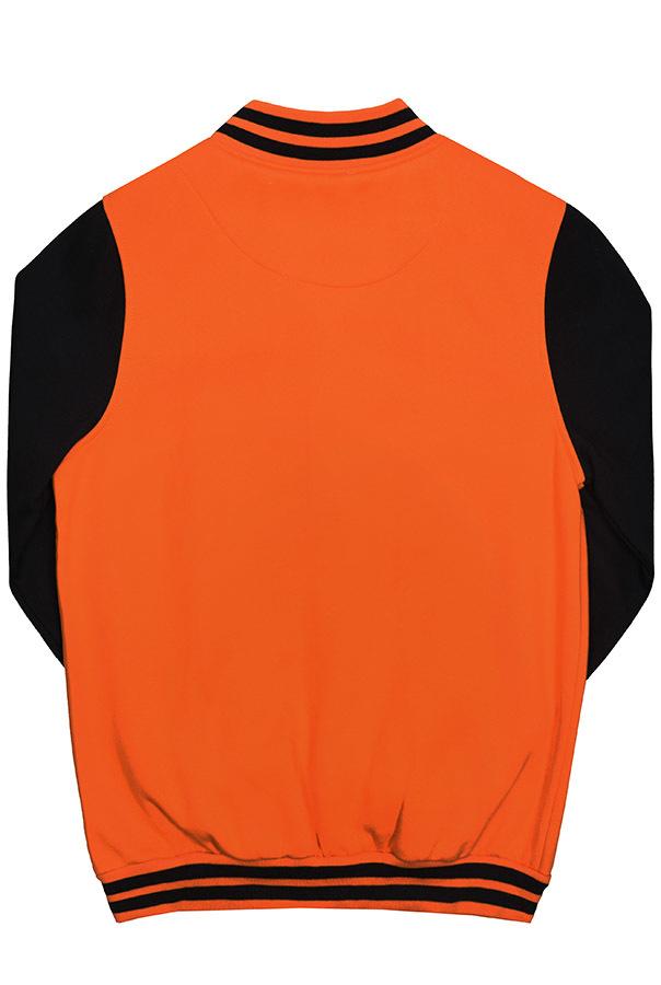 Бомбер оранжевый фото спина