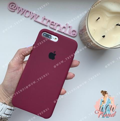 Чехол iPhone 7+/8+ Silicone Case /marsala/ марсал 1:1
