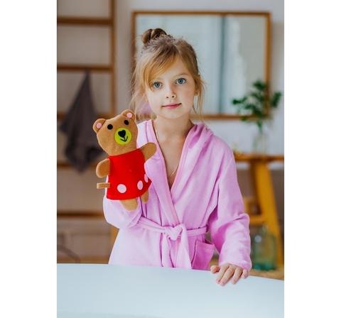 """Мочалка-варежка детская """"Медвежонок"""""""