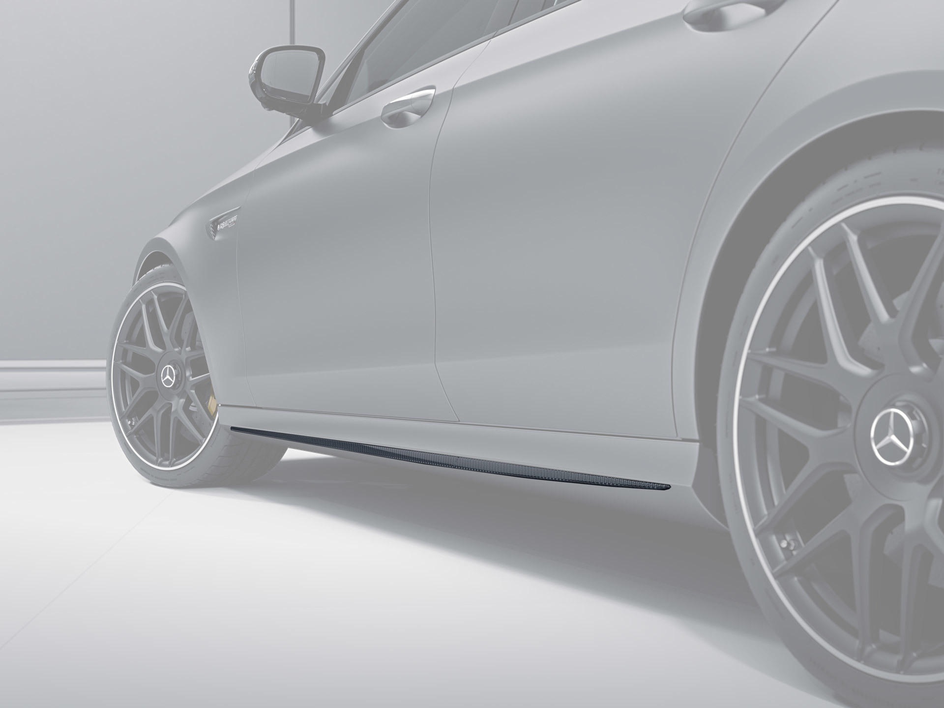 Карбоновые накладки на пороги 63 AMG Brabus Style для Mercedes E-class W213