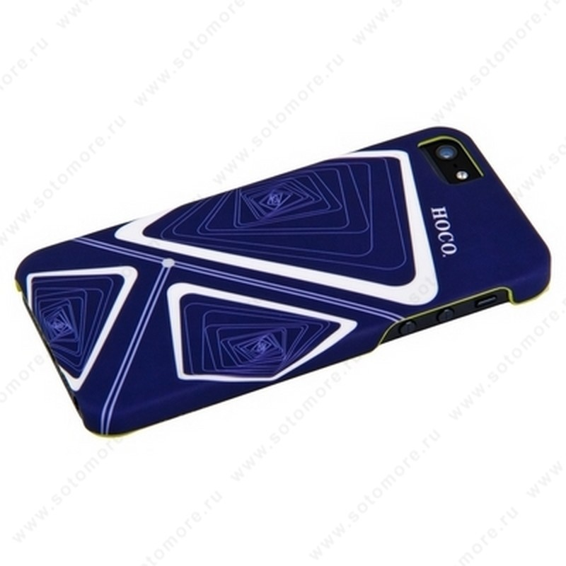 Накладка HOCO для iPhone SE/ 5s/ 5C/ 5 - HOCO Cool·moving IML protective case Time Tunnel blue