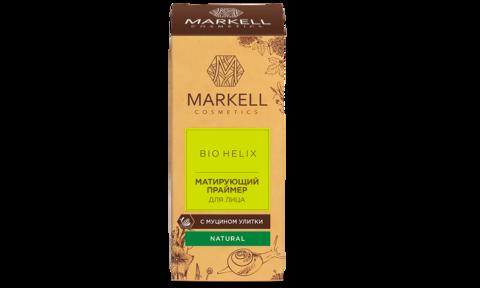 Markell Bio-Helix Матирующий праймер для лица с муцином улитки 10мл