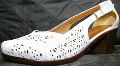 Туфли белые Marani Magli 031 405 White.