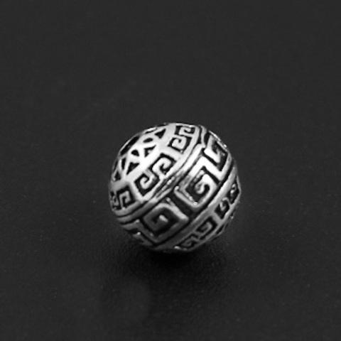 Бусина Греческая 8 мм серебро 925
