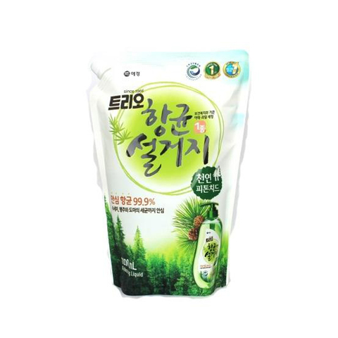 Средство для мытья посуды Фитонциды Aekyung Trio Phypocide 1,2 л в мягкой упаковке