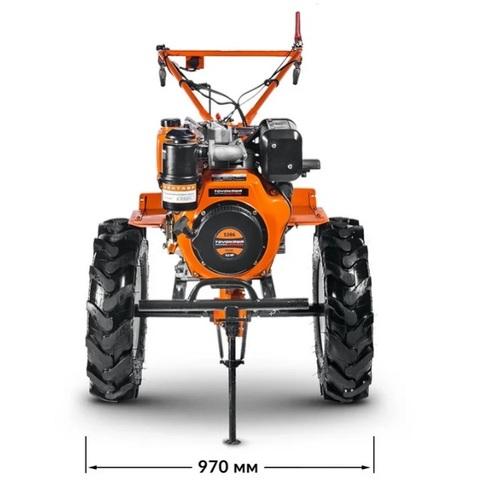 Мотоблок Кентавр 2091 Д (9,2л.с.)дизельный, ВОМ, усиленный редуктор, электростартер, колесо 6,00*12