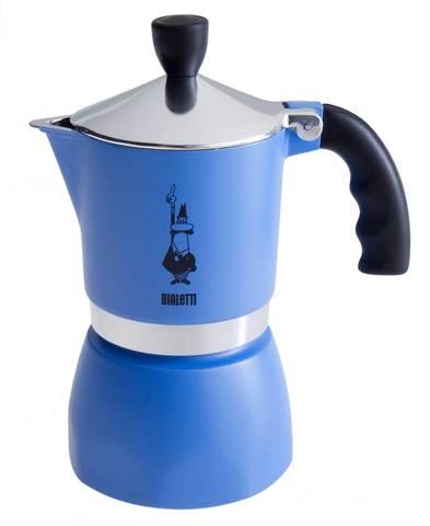 Bialetti Fiametta голубой 3 порции Гейзерная кофеварка