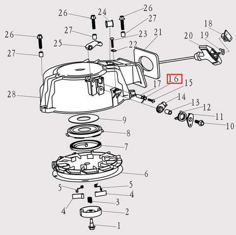 Пружина для лодочного мотора F9.8 Sea-PRO (8-16)