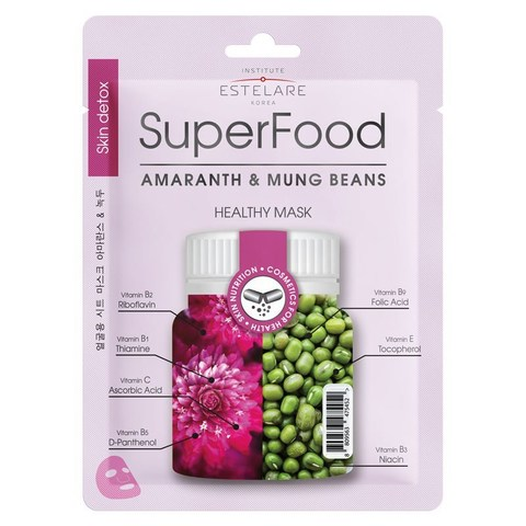 Institute Estelare SuperFood Тканевая маска для лица Амарант и Бобы Мунг 25г
