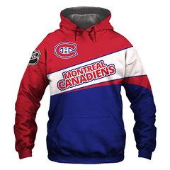 Толстовка утепленная  3D принт, НХЛ Монреаль Канадиенс (3Д Теплые Худи NHL Montreal Canadiens)