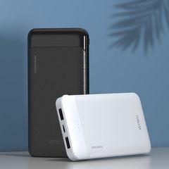 Внешний аккумулятор WiWU 10000mAh, 2 USB out, Type-С in, белый