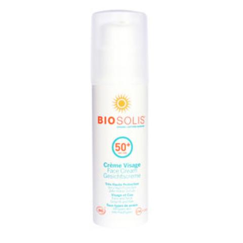 Biosolis Крем солнцезащитный для лица SPF 50+, 50 мл