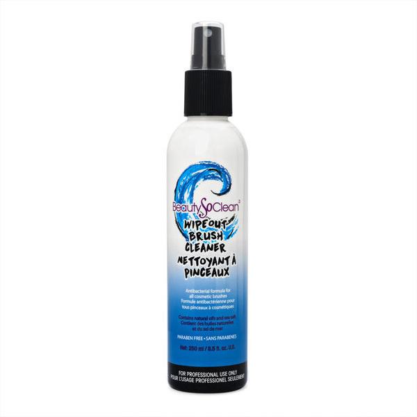 Дезинфицирующий кондиционер для кистей с морской солью WIPEOUT BRUSH CLEANER, 250 ml