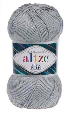 Пряжа Alize Diva Plus 21 серый
