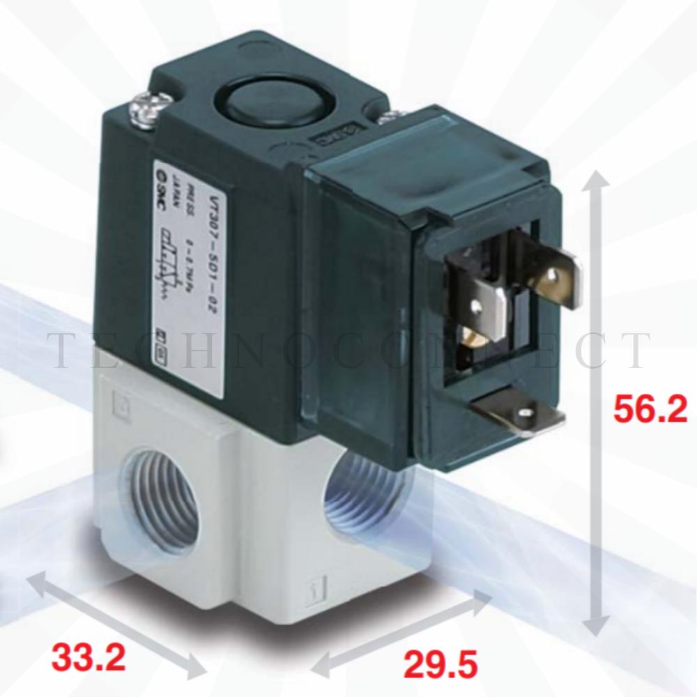 VT307-4DO1-01F-Q  3/2-Пневмораспределитель, G1/8