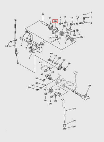Ролик привода дросселя  для лодочного мотора T15, OTH 9,9 SEA-PRO (12-18)