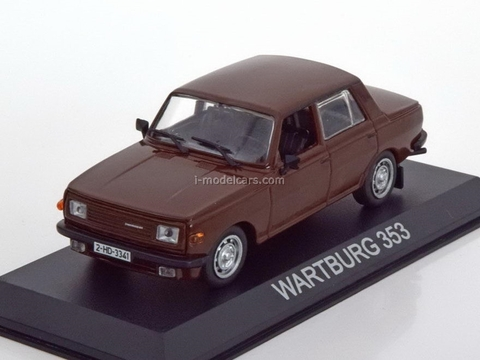Wartburg 353 dark brown 1:43 DeAgostini Masini de legenda #12