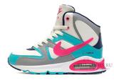 Кроссовки Женские Nike Air Max Skyline MID Pink White Turqupise ( с Мехом)