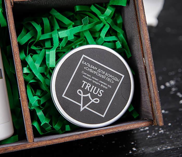 Подарочный набор средств для ухода за бородой: шампунь, бальзам и щетка фото 03