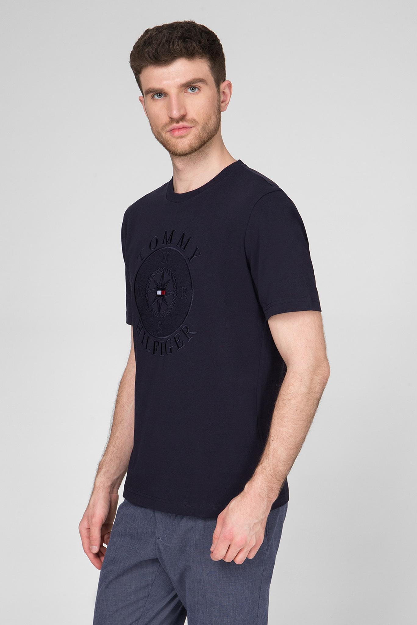 Мужская темно-синяя футболка CIRCULAR COMPASS RELAXED FIT Tommy Hilfiger