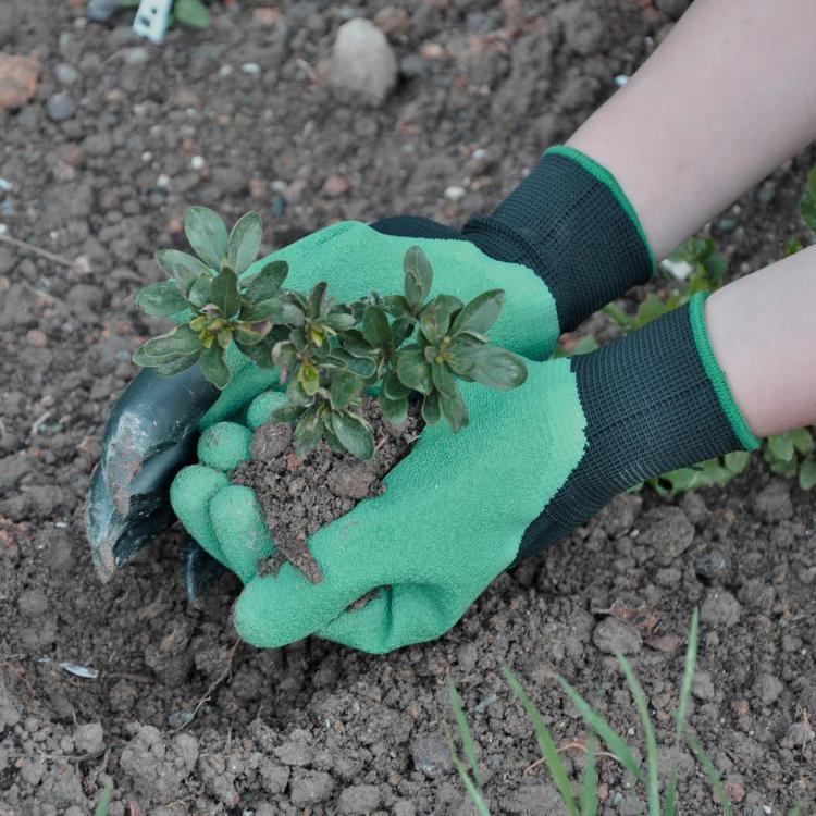 Садовые перчатки с когтями Garden Genie Gloves для правшей фото