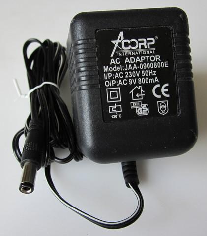 адаптер +9В, 800ма