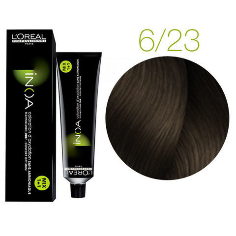 L'Oreal Professionnel INOA 6.23 (Темный блондин перламутровый золотистый) - Краска для волос