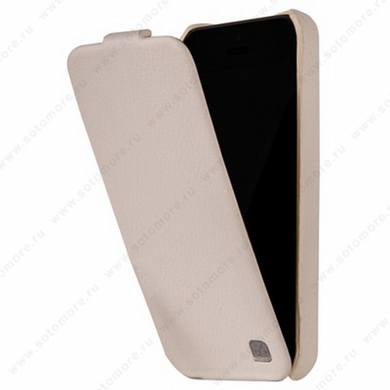 Чехол-флип HOCO для iPhone SE/ 5s/ 5C/ 5 - HOCO Duke Leather Case White