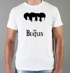 Футболка с принтом Битлз (The Beatles) белая 006