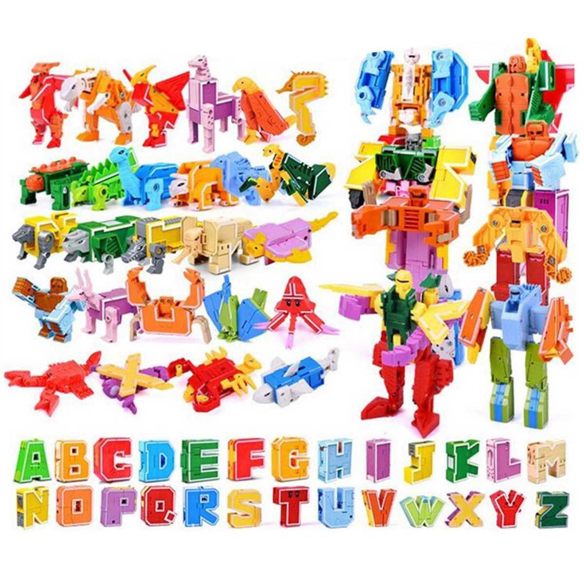 Трансботы Lingvo Zoo 1 Toy (алфавит английский 26 букв от A до Z)