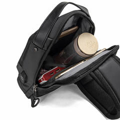 Рюкзак однолямочный стильный КАКА 852 чёрный