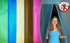 Антимоскитная сетка на магнитах для двери (разные цвета)