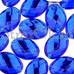Купить пришивные стразы оптом недорого Oval Sapphire синие